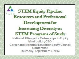 STEM Equity Pipeline Resources and Professional Development
