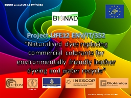 Project LIFE12 ENV/IT/352 PowerPoint PPT Presentation