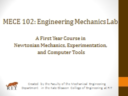 Created by the Faculty of the Mechanical Engineering Depart