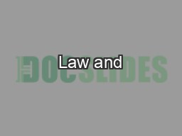 Law and