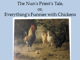The Nun's Priest's Tale,