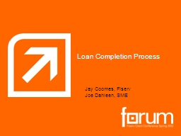 Loan Completion Process