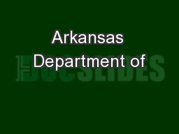 Arkansas Department of