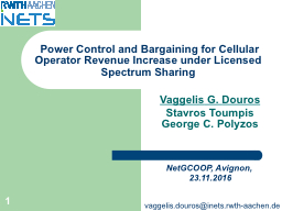 1   Power Control and Bargaining for Cellular