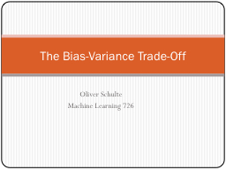 The Bias-Variance Trade-Off
