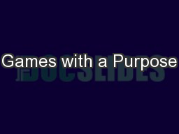 Games with a Purpose PowerPoint PPT Presentation