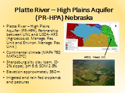 Platte River � High Plains Aquifer (PR-HPA). Partnership
