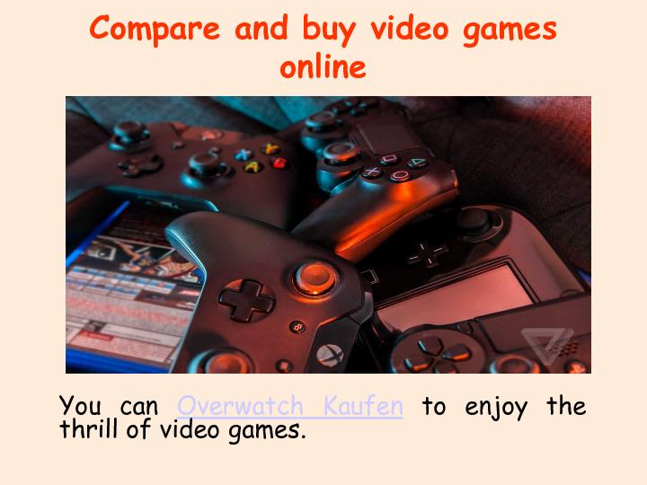 Compare and buy video games online