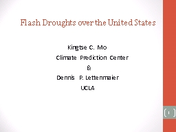 Flash Droughts over the United States