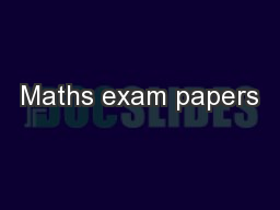 Maths exam papers