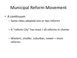 Municipal Reform Movement
