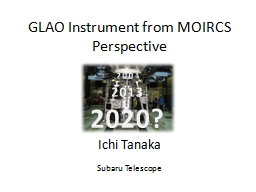 GLAO Instrument from MOIRCS