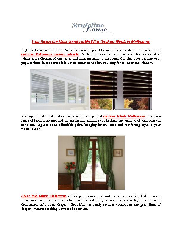 To Make Your Space the Most Comfortable With Outdoor Blinds in Melbourne