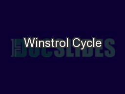 Winstrol Cycle PowerPoint PPT Presentation