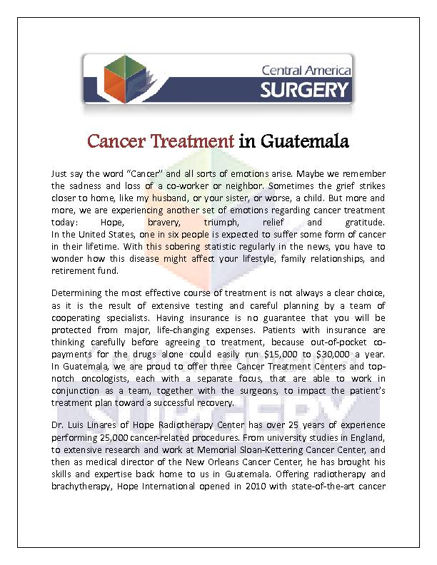 Colorectal Cancer Surgery