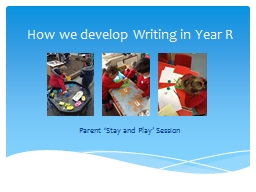 How we develop Writing in Year R