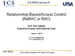 1 Relationship-Based Access Control ( PowerPoint PPT Presentation