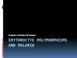 Erythrocyte Polymorphisms and malaria