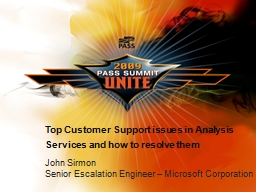 Top Customer Support issues in Analysis Services and how to