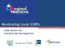 Monitoring Local GSRPs