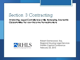 Section 3 Contracting