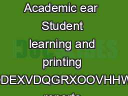 Student Printing at Lehigh  A Guide for Faculty Academic ear  Student learning and printing RRNDWDQFRXUVHVOODEXVDQGRXOOVHHWHWERRNVDUWLFOHV reports owerPoint slides books and journals