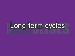 Long term cycles