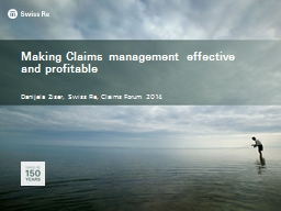 Making Claims management effective and profitable PowerPoint PPT Presentation