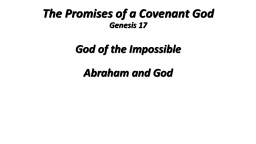 The Promises of a Covenant God