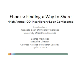 Ebooks: Finding a Way to Share
