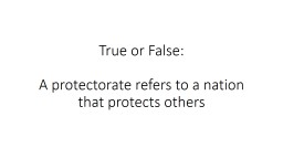 True or False: PowerPoint PPT Presentation