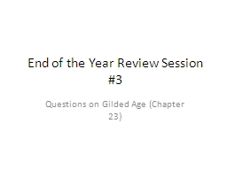 End of the Year Review Session #3
