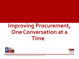 Improving Procurement, One Conversation at a Time