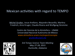 Mexican activities with regard to TEMPO