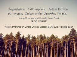 Sequestration of Atmospheric Carbon Dioxide as Inorganic Ca