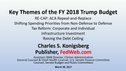 Key Themes of the FY 2018 Trump Budget
