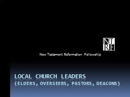 local church leaders PowerPoint PPT Presentation
