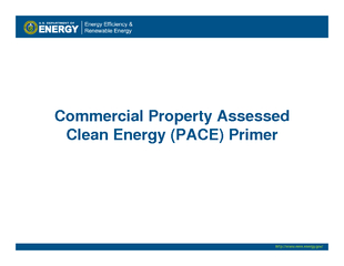 Commercial Property Assessed Clean Energy PACE Primer PDF document - DocSlides