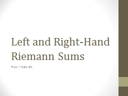 Left and Right-Hand Riemann Sums