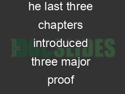 CHAPTER  Proving NonConditional Statements he last three chapters introduced three major proof techniques direct contrapositive and contradiction