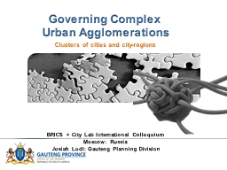 Governing Complex Urban