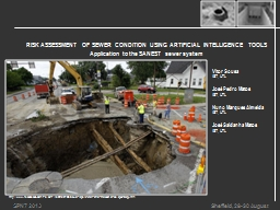 RISK ASSESSMENT OF SEWER CONDITION USING ARTIFICIAL INTELLI PowerPoint PPT Presentation