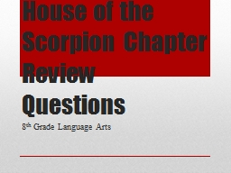 House of the Scorpion Chapter Review Questions