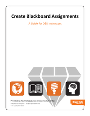 Create Blackboard Assignments A Guide for OSU Instruct