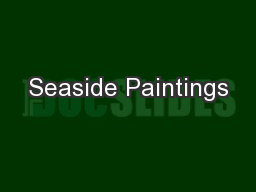 Seaside Paintings