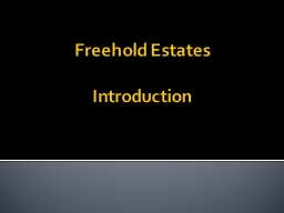 Freehold Estates