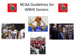 NCAA Guidelines for