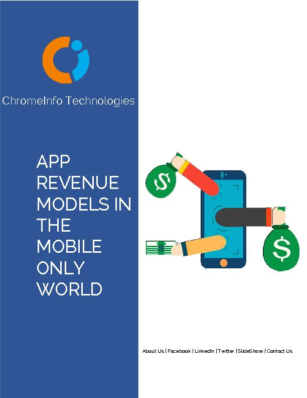Mobile App Revenue Models | ChromeInfotech