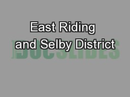 East Riding and Selby District