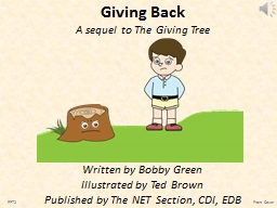 Giving Back PowerPoint PPT Presentation